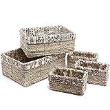 Juvale Nesting Storage Baskets, Wicker Basket (5 Piece Set)