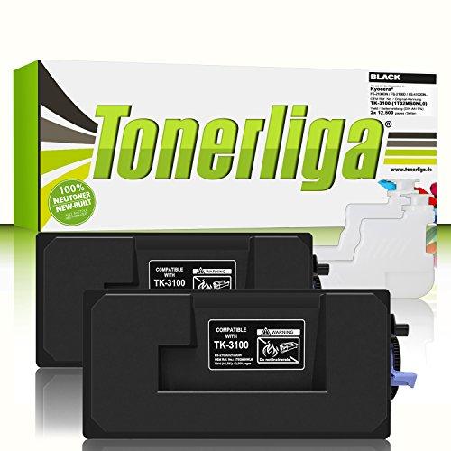 2X TK-3100 Premium Toner f. Kyocera FS-2100dn FS-2100d FS-4100dn FS-4200dn ECOSYS M3040dn M3540dn | Kompatibel | Ideal f. Ihre gestochen scharfen Ausdrucke