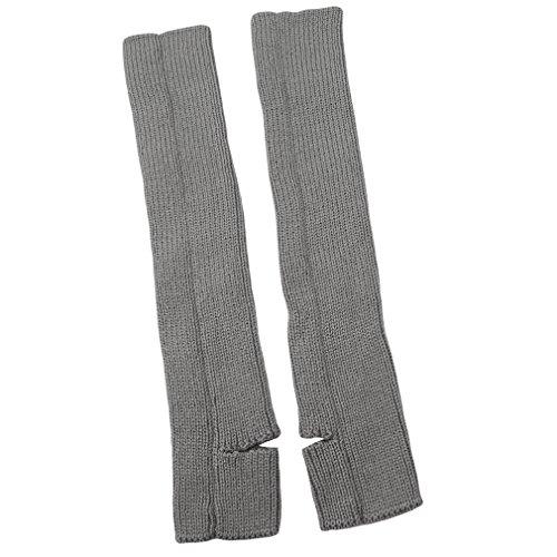 Yinew - Calentadores de pierna de punto para entrenamiento de fitness y danza de tobillo para invierno, acrílico, gris claro, As Description