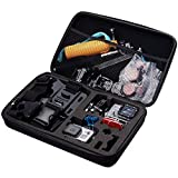 <span class='highlight'><span class='highlight'>TEKCAM</span></span> Carrying Case Protective Bag with Water Resistant EVA Compatible with Gopro Hero 8 7/AKASO EK7000/APEMAN/Victure/Crosstour/Campark 4K Waterproof Action camera Travel Home Storage (Large)