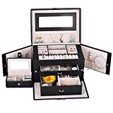 Best Kendal Jewelry Boxes - Kendal Large Leather Jewelry Box/Case/Storage/Organizer with Travel Case Review
