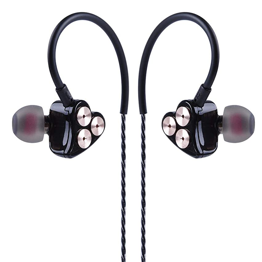 BOT1 In ear Monitors,Dynamic Wired Earphone, High Resolution earbuds with 3.5 MM heavy bass headphone stereo balance Hifi high sound quality resolution each side 3 Dynamic (BOT1 with mic)