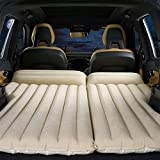 HOMETAK Car Air Mattress Bed for Truck SUV Trunk Long Size 77' Inflatable Pad Camping Electric Pump Camping Thickened Minivan Quick Inflation/Deflation (Light Brown)