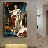 ナポレオン欧州裁判所の肖像﹣フルラウンドドリルダイヤモンド絵画﹣家の装飾のためのフルドリルラインストーンクロスステッチクリスタル刺繍