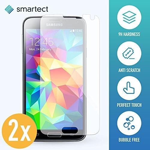 smartect Panzerglas kompatibel mit Samsung Galaxy S5 / S5 NEO [2 Stück] - Displayschutz mit 9H Härte - Blasenfreie Schutzfolie - Anti Fingerprint Panzerglasfolie