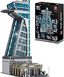 Hero Tower Architecture Building Blocks Kit, Heroes 'Revenge Building, Hero Tower Architecture Building Blocks Kit, 5883 Piezas, Compatible con Lego