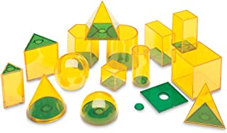 Learning Resources LSP0918-UK Relational GeoSolids 3D Maths Classroom Resource for Learning Shapes & Volume Ages 8+
