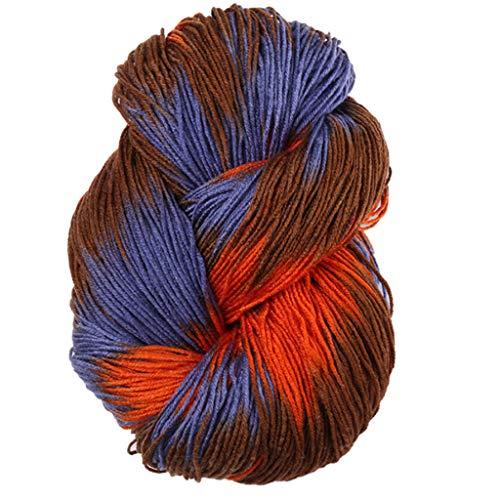wenjuersty 50g/bola mezclado colorido hilado de punto acrílico teñido a mano hilo de ganchillo