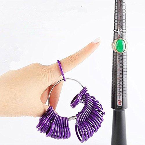 XQxiqi689sy Ringgröße Dorn Stick Finger Gauge Ringmaß Messgrößen Werkzeugset