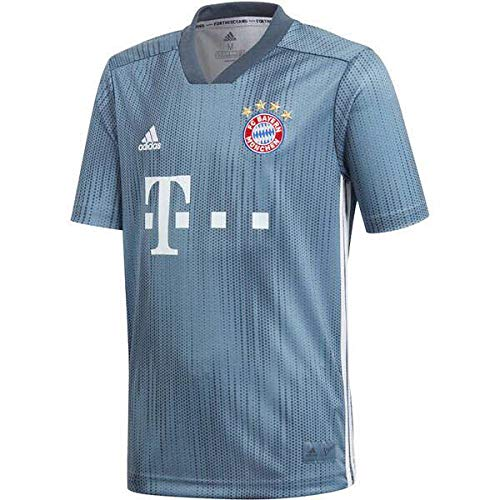 adidas Bayern Múnich Third - Camiseta de fútbol para niño, Unisex niños, Camiseta de fútbol, DP5451, Raw Steel/Utility Blue/White, FR : 2XL (Taille Fabricant : 176)