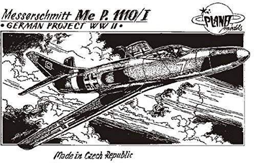 Models Planet 72 cM - 003 modellbausatz Messerschmitt me 1110/i, II wW projets.