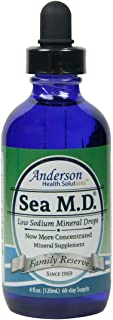 Anderson`s Sea M.D. Concentrated Trace Mineral Drops, Ionic Electrolyte Magnesium Supplement, Full Spectrum Trace Minerals, Liquid Magnesium, Easy to Take, 4 Ounces