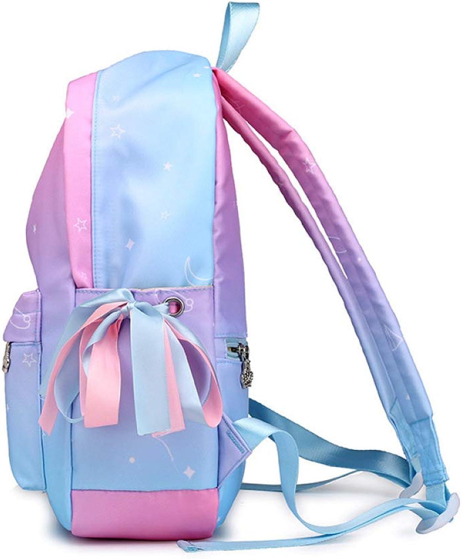 QWKZH Weibliche Tasche Rucksack Nylon Student Tasche Outdoor Mode Handtasche