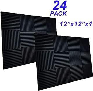 24 Pack -Black Acoustic Panels Studio Foam Wedges 1