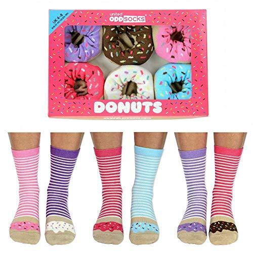 United Oddsocks Donuts Socken für Damen, Größe EUR 37-42, UK 4–8