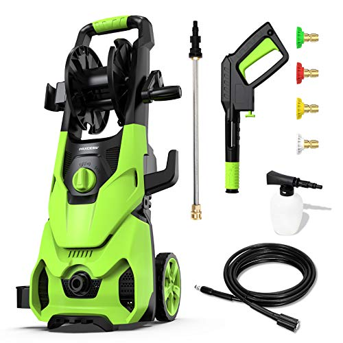 Paxcess Electric Pressure Washer 3500PSI 1.85GPM High Power Washer Machine with 4 Quick-Connect Nozzles, 16.9oz Foam Cannon for Car, Patio and Floor Cleaning