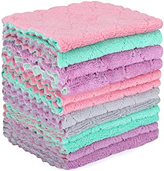 12-Pack Mavgv Double-Sided Microfiber Cleaning Cloth