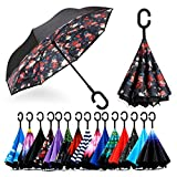 Best Beach Umbrella For Winds - Spar. Saa Double Layer Inverted Umbrella with C-Shaped Review