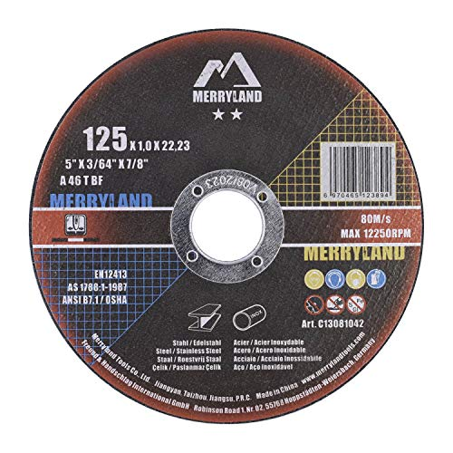 Merryland 125 X 1,0 Craft-line Dischi da Taglio Acciaio INOX Ferro Metallo Universale 50PCS