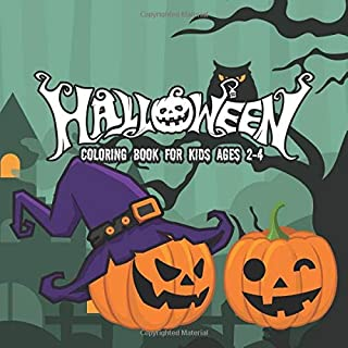 Halloween Coloring Books for kids ages 2-4: A Spooky Coloring Book For Creative Children pumpkins design (halloween coloring pages for kids)