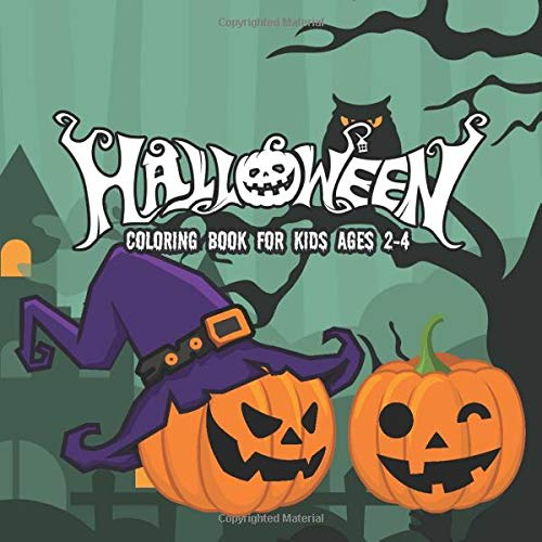 Halloween Coloring Books for kids ages 2-4: A Spooky Coloring Book For Creative Children pumpkins de