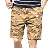 Equipaggiamento per Freeride,Pantaloncini Uomo con Protezione Solare,Pantaloni Uomo Jeans Strappati 2019,Cachi,XXL