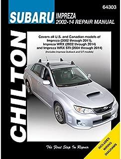 Chilton Repair Manual 64303 Subaru Impreza (2002-2011), WRX (2002-2014) and WRX STI (2004-2014) (64303)