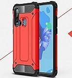 NANXCYR para Huawei P10Lite/P10/P9Lite/P8LITE2017/P9Lite2017 Funda, 2 en 1PC TPU Funda a Prueba de Golpes, para Huawei P20LITE/Nova3E/ P20/P11/P20Pro/P20Plus/P30pro,Rojo,HuaweiP9Lite