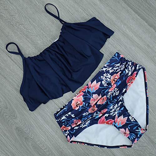 XUANYA Traje baño Bikinis Cintura Alta Mujer Plus
