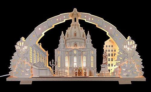 Schwibbogen Dresdener Frauenkirche - 72x41x7 cm