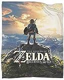 Manta suave y cálida de la leyenda de Zelda: Breath of the Wild Manta de forro polar unisex para niños, niñas, niños pequeños, bebés, recién nacidos, tamaño 50 pulgadas x 70 pulgadas