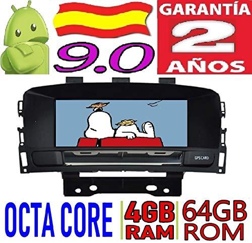 KasAndroid AUTORADIO Android 9.0 Compatible con Opel Astra J/Opel Cascada/Buick Excelle XT Vauxhall Astra (2010-2013) Octa Core, 4GB RAM, 64 GB ROM GPS Radio Coche WiFi navegador
