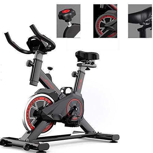 Spinning Fiets Indoor, Exercise Cycle Bike met Silent Transmission Belt, Verstelbare Sturen & Seat, Led scherm, voor Home Gym