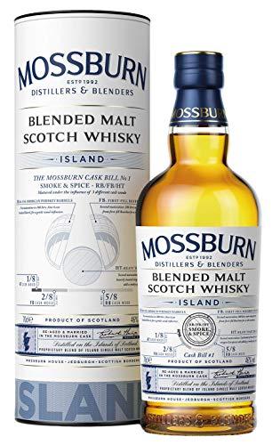 Mossburn Island | Smoke & Spice Cask Bill No.1 | Blended Malt Scotch Whisky | 0,7l. Flasche in Tube