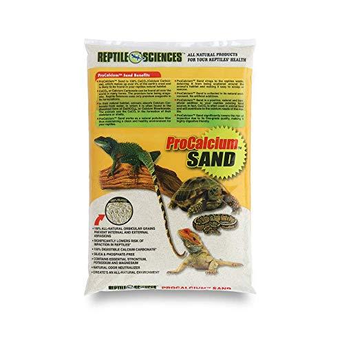 Reptile Sciences Terrarium Sand, 10-Pound, 100% All-Natural Orbicular Grains, (White)