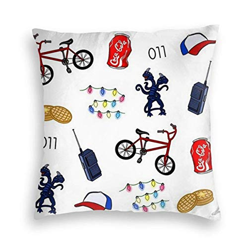 catty bluss Kissenhülle Dekorative Dekokissen Fahrrad Intercom Baseball Cap Kissenbezüge Zierkissenbezug Zierkissenhülle für Weihnachten aus Super Weicher und Flauschiger Uni Farbe Samt