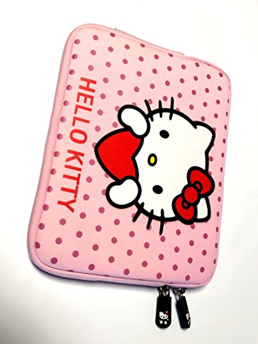 Hello Kitty Bag Protective Sleeve Case for Ipad 2 3 4 / iPad Air / iPad Air2 Google Nexus Hp Touchpad Motorola Xoom, Smasung Galaxy Tab 10.1V, and any 10.1inch or less Tablet (PINK)