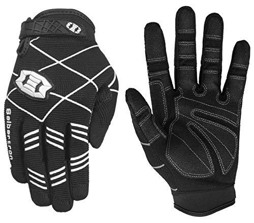Seibertron F.O.D.G.G 2.0 Ultimate Frisbee Gloves Disc Golfhandschuh mit ultimativem Griff - geeignet für alle Wetterbedingungen Adult/Erwachsener Black M