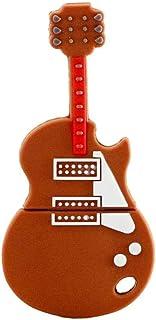 USB Flash Drives 32GB Memory Stick USB 3.0, Cute Cartoon Brown Guitar Shape Flash Drive External Storage Flash Memory Pen ...