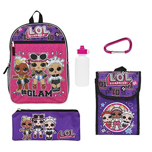 LOL Surprise Purple Back too School Essentials Set for Girls, Purple, Size 16'