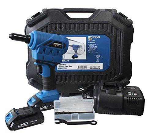 HYUNDAI HY-HYBR2201 Remachadora, 18 V, Negro/Azul, 1,6