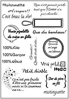 Vaessen Creative Pitchounette A5Taille Tampon transparent, Noir, One