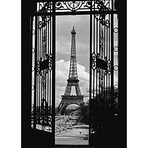 Affiche 50x70 cm La Tour Eiffel, 1909 / Eiffel Tower Through Gates, 1909 / Eiffelturm, 1909 Anonyme