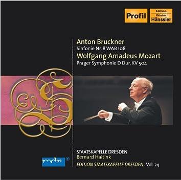 "Bruckner, A.: Symphony No. 8 / Mozart, W.A.: Symphony No. 38, ""Prague"" (Staatskapelle Dresden Edition, Vol. 24)"