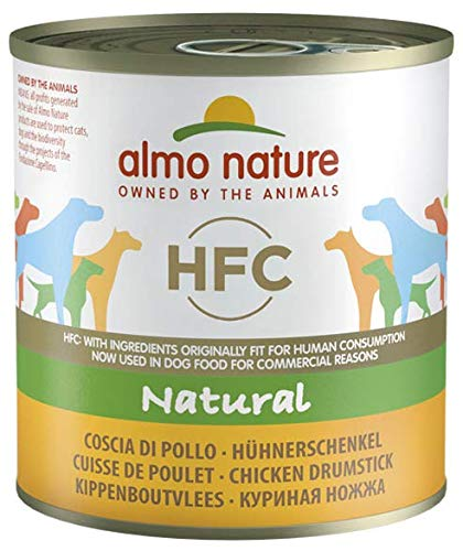 almo nature Hundefutter nass HFC Natural Hühnerschenkel, 12 stück
