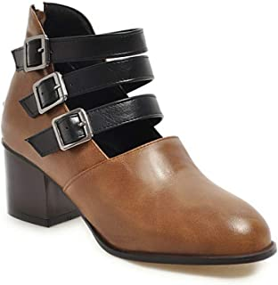 BalaMasa Womens APL12146 Pu Block Heels