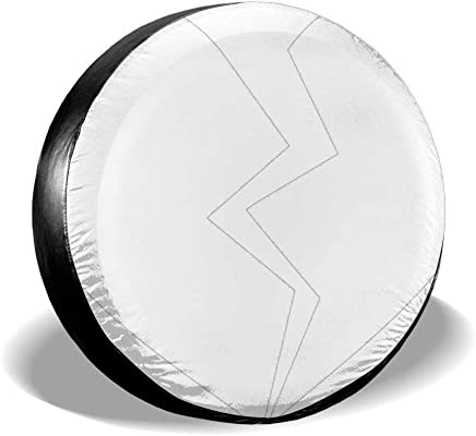 14 15 16 17 Moon Wolf Spare Tire Cover Wheel Cover Dust-Proof Waterproof Tire Cover Protection for Trailer RV SUV Truck Camper Travel