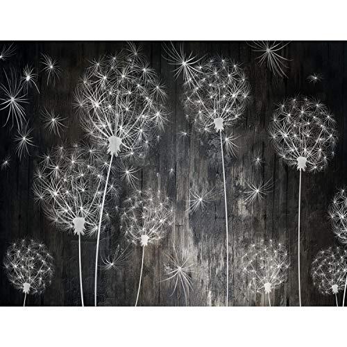 Fototapeten Pusteblumen Schwarz 352 x 250 cm Vlies Wand Tapete Wohnzimmer Schlafzimmer Büro Flur Dekoration Wandbilder XXL Moderne Wanddeko Flower 100% MADE IN GERMANY - Runa Tapeten 9094011a
