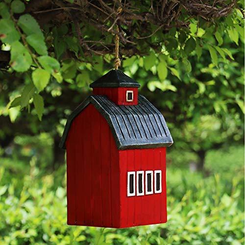 Abrahmliy Vogelhaus Nistkasten Vogel Hut Hängen Hummingbird Nest for Außen hängend Dekorative Handgemalte Birdhouse-Garten Decor Hauptdekorationen (Color : Red, Size : Free Size)