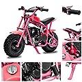 Fit Right 2020 DB003 40CC 4-Stroke Kids Dirt Off Road Mini Dirt Bike, Kid Gas Powered Dirt Bike Off Road Dirt Bikes, Gas Powered Trail Mini Bike - Ultra Edition (Pink)